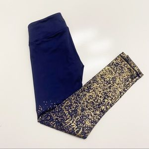 Luxletic Legging Navy Anything is Possible Gold